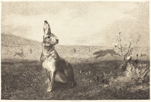 felix-bracquemond-after-albert-de-balleroy-the-hare-ca-1860