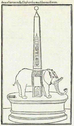 Houtsnede uit het boek: Hypnerotomachia Poliphili, Fancesco Colonna 1499