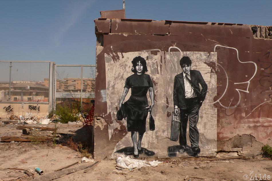 Mamma Roma street art Rome Zilda